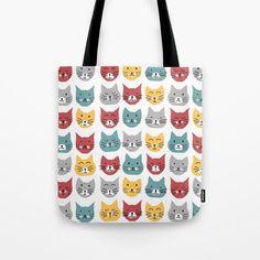 Kittens pattern Tote Bag