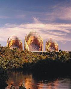 Tjibaou Cultural Center. Noumea, New Caledonia. 1998.Renzo Piano and associates