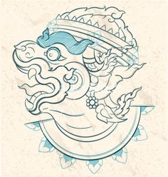 Thai style white monkey sketch Hanuman Ramayana vector image on VectorStock Doodle Art Drawing, Art Drawings, Buddha Tattoos, Body Art Tattoos, Dope Tattoos, Border Tattoo, Hanuman Tattoo, Cambodian Art, Monkey Illustration