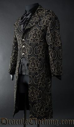 Black Jacquard Tailcoat