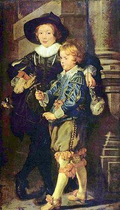 Peter Paul Rubens, Artist's Sons Albert and Nicholas - Art Painting Gallery Peter Paul Rubens, Caravaggio, Rembrandt, Rubens Paintings, Diego Velazquez, Oil On Canvas, Canvas Art, Art Painting Gallery, Painting Art