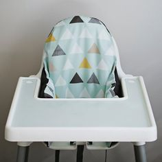 Yes!  Finally cute covers and a placemat for the IKEA highchair.  This is going to make clean up so much faster!