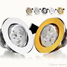 Lights & Lighting 2019 Latest Design Led Downlight 3w 5w 9w 12w 15w 18w Silver White Ultra Thin Aluminum Downlight Ac110v 220v 240v Round Recessed Led Spot Lighting Elegant And Sturdy Package Led Lighting