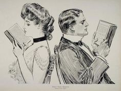 Their First Quarrel, by Charles Dana Gibson (1867-1944) Source: Fulminations Collector