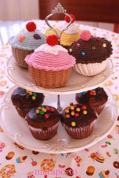 B I G a r t e s . c o m: Cupcakes de Crochê