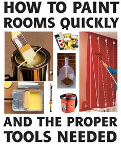 How to paint a room in your house FAST