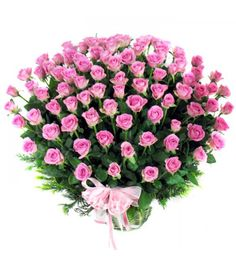 TO LOVE A classic love expression cannot be complete without an arrangement of pink roses with ribbon bow that can portray the love, passion and warmth in a relationship. You hardly need words to manifest your feeling as these crimson roses says it all. Gift this arrangement to your beloved and convey your message of love and sweet affection. Premium Rose Basket 200 Pink Roses