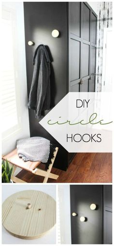 These modern DIY Wall Hooks are the perfect way to organize any hallway, bedroom, mudroom, or bathroom! These decorative wall hooks will act as the perfect clothing, purse, or coat hangers and are stylish too!