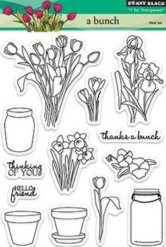 Penny Black Clear Stamp - A Bunch