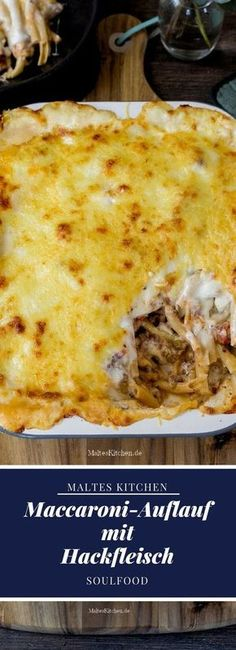 Golden yellow baked macaroni casserole with minced meat- Goldgelb überbackener Maccaroni-Auflauf mit Hackfleisch Golden yellow baked macaroni casserole with minced meat Macaroni Casserole, Baked Macaroni, Casserole Recipes, Tortilla Casserole, Macaroni Recipes, Hamburger Casserole, Hamburger Meat Recipes, Sausage Recipes, Pizza Recipes