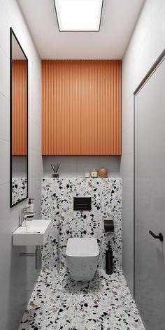 Washroom Design, Toilet Design, Diy Bathroom Decor, Modern Bathroom Design, Bathroom Interior Design, 1920s Interior Design, Interior Design Magazine, Bathroom Cleaning, Small Toilet Room