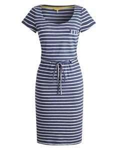 Blue Stripe Nettie Womens Lightweight Jersey Dress | Joules UK