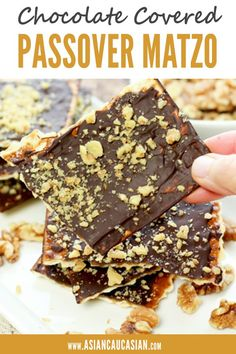 Chocolate Covered Passover Matzo is such an easy dessert recipe. Just a few ingredients this fun Kosher dessert can be made with the kids. You can make this recipe for Passover or any time of year! Kosher Desserts, Passover Desserts, Passover Recipes, Jewish Recipes, Passover Food, Matzo Meal, Easy To Make Desserts, Classic Desserts, Chocolate Desserts