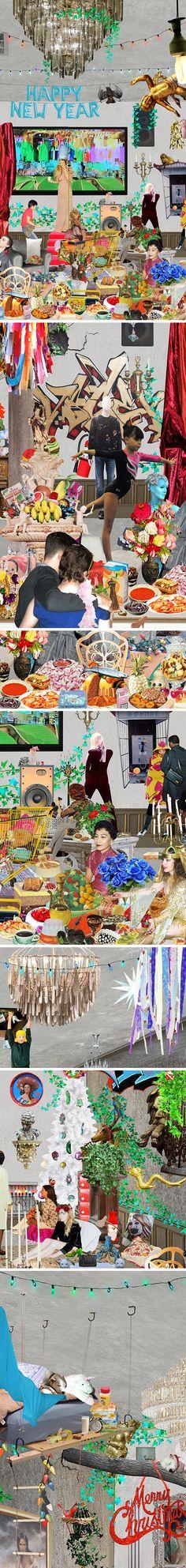 giant collage by sanda anderlon <3 HAPPY 2017 xo