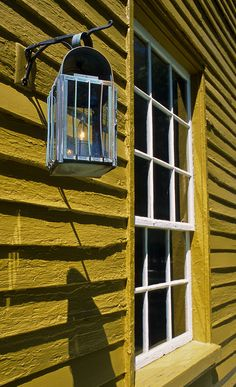 Lantern and Yellow House, Shaker Village of Pleasant Hill, Kentucky