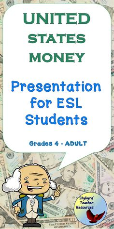 Introduce your students with U. money vocabulary with this presentation. Use the money note catcher and money study guides during your esl lessons and esl activities. English Verbs, English Vocabulary, English Grammar, Esl Lessons, English Lessons, English Writing Exercises, Grammar Exercises, Vocabulary Activities, Classroom Activities
