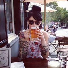 i want to see more tattooed women like this in my feed and fewer of the half naked pin ups.  what the hell?