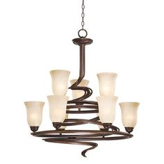 "Swirled Iron Bronze Finish 2-Tier 26"" Wide Chandelier - So it was $400.  I wonder what's up with the $200 price increase."