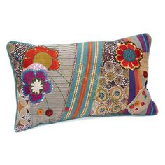 I pinned this Patchwork Flower Pillow from the merben event at Joss and Main! Warm Blankets, Knitted Blankets, Small Projects Ideas, Pillow Room, Pillow Talk, Flora Design, Flower Pillow, Funky Furniture, Joss And Main