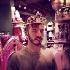Please enjoy this low quality picture of Josh Dun wearing a tiara