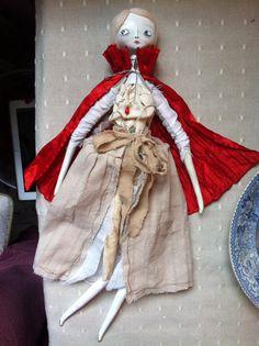 OOAK Art Doll red cloaked ....Mina