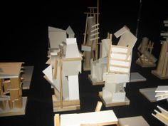 STACK sculpture models that form the elements of the GRAVEYARD installation.