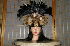 Etsy の Tahitian headdress for SOLO or OTEA by leilani1111