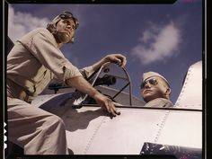 http://www.loc.gov/pictures/collection/fsac/  Ensign Noressey and Cadet Thenics at the Naval Air Base, Corpus Christi, Texas