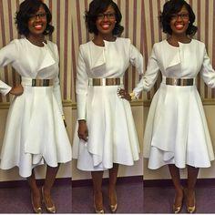 First Lady Brianna Sullivan-Sharpe, First Lady of The House of Hope of Macon, Ga. Church Attire, Church Dresses, Church Outfits, Church Clothes, Modest Fashion, Love Fashion, Fashion Dresses, Trendy Fashion, Stylish Dresses