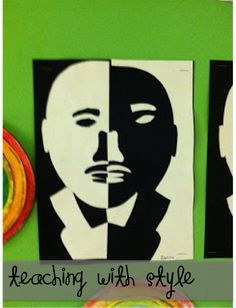 Looking for a fun art project for Martin Luther King?   Try this positive/negative project! It's perfect for grades 2, all the up to middle...
