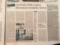 Gio Ponti e il blu costiera Rivivono le ceramiche vietresi #ceramicafrancescodemaio #corrieredellasera #cersaie2016