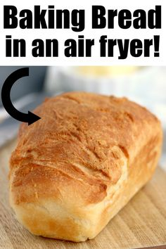 Homemade Air fryer bread is easy to make with just 6 ingredients and very little kneading required. Perfectly fluffy white bread done in no time. Recipes With Yeast, Easy Bread Recipes, Banana Bread Recipes, Air Fryer Oven Recipes, Air Fryer Dinner Recipes, Homemade White Bread, Homemade Breads, Cinnamon Banana Bread, Air Fried Food