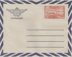 Canadian air mail envelope | Tumblr