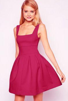 LUCLUC Sleeveless Scoop Cotton Mini Skater Dress