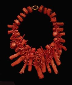 Roberto Cavalli Branch Coral Necklace #RobertoCavalli