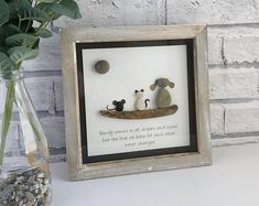 Personalised Cornish Pebble Art made just for you! by TillyJaneCrafts Stone Crafts, Rock Crafts, Pebble Pictures, Art Pictures, Stone Pictures, Crafts To Make And Sell Unique, Art Rupestre, Art Pierre, Pebble Art Family