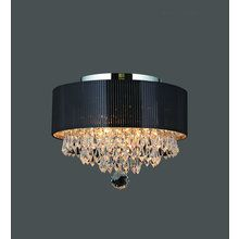 """View the Worldwide Lighting W33137C12 Gatsby 3 Light 12"""" Flush Mount Ceiling Fixture in Chrome with Clear Crystals at LightingDirect.com."""