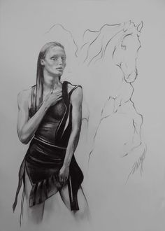 'Penthésilée' 30x40cm Création de Sophie Dumas