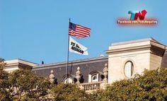 la embajada y la bandera