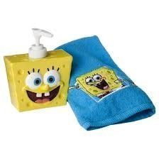 SpongeBob Lotion Pump & Fingertip Towel Set cotton kid/Children Gift NEW Kids Bathroom Sets, Kids Bathroom Accessories, Spongebob House, Spongebob Birthday Party, Spongebob Squarepants Toys, Pusheen Plush, Disney Princess Toys, Fingertip Towels, Lotion
