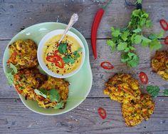 Indiske pakoras – indbagte grøntsager med mango dip