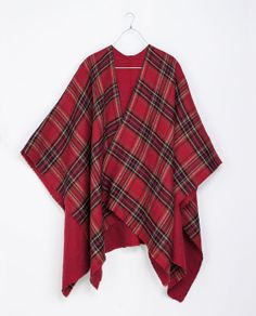 ZARA - MAN - CHECKED PONCHO