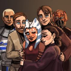 Twice the Trouble — paunchsalazar:   Ahsoka Tano and her loving dads +...