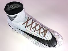 SR4U Reflective Dark Multicolor Soccer Laces on Nike Mercurial Superfly 5 CR7 Chapter 5 Cut to Brilliance