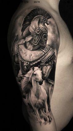 Wolf Tattoo Sleeve, Leg Tattoo Men, Leg Tattoos, Sleeve Tattoos, Tattoos For Guys, Knight Tattoo, Armor Tattoo, Warrior Tattoos, Badass Tattoos
