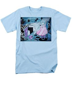 Mystery Girl-cyclops T-Shirt featuring the painting Midnight Dream by Tiana Art