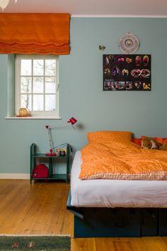 Scampolo 130 - Kreideemulsion - Kreidefarbe - blau-graue Wand und Möbelfarbe