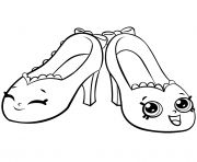 Print Season 7 Pretty Shopkins Shoes Royale Colouring Pages coloring pages
