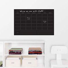 Classic Monthly Chalkboard Calendar