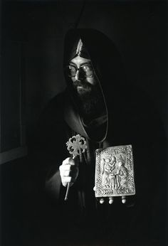 Coptic Monk with Cross and Icon, Monastery of St. Paul of Thebes, Red Sea, Egypt